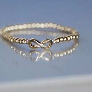 🌸 Gold Plastic Infinity Bracelet, 100% Handmade🌸